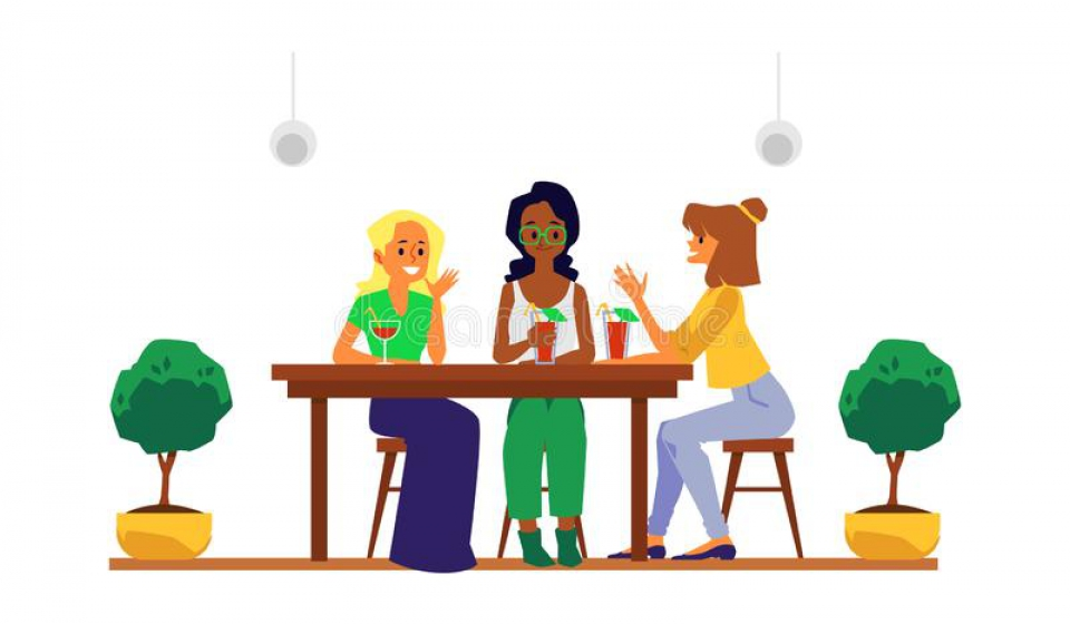cartoon-girl-friends-group-sitting-cafe-table-cocktail-drinks-smiling-talking-young-women-drinking-restaurant-165942306
